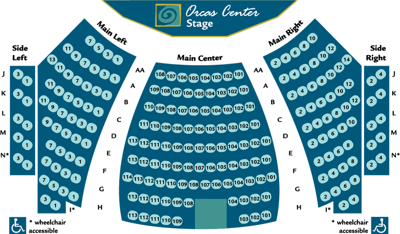 Orcas Center Seating Chart